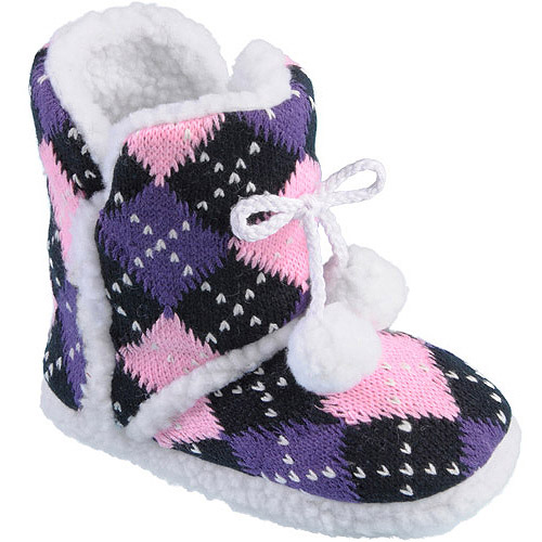 Brinley Co Kids' Pom Pom Slipper Boots