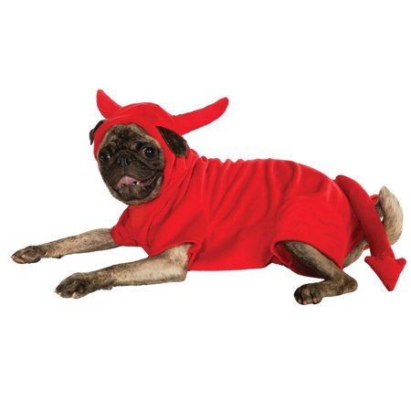 Devil Dawg Pet Dog Cat Lucifer Red Halloween Costume Hoodie-Xxxl