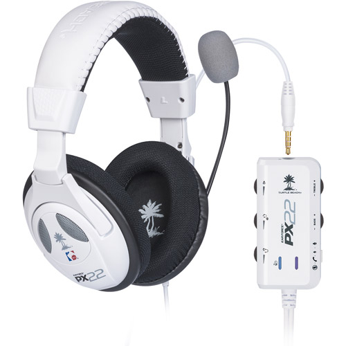 Turtle Beach Ear Force PX22 Headset, White (PS3/PS4/Xbox 360/Xbox One)