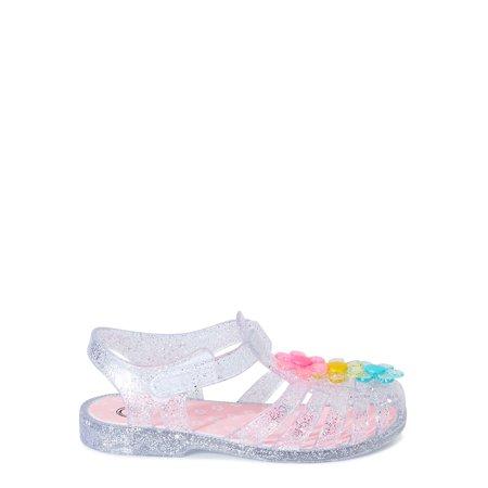 Wonder Nation Toddler Girls Daisies Jelly Fisherman Sandals