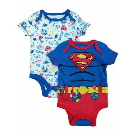 DC Comics Infant Boys 2pc Superman Bodysuit Set Super Man Baby Outfit](Comic Con Outfit)