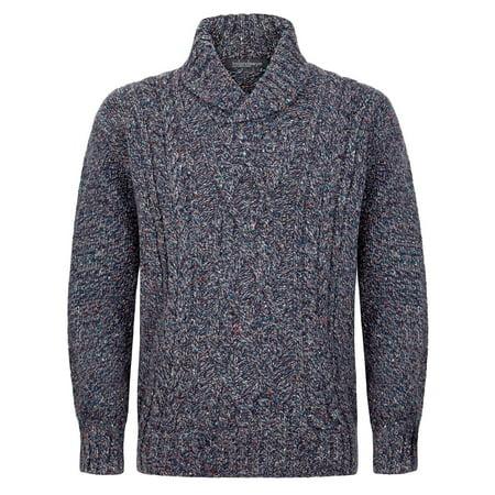 Pure Wool Sweater (Mens Irish Wool Sweater, Made in Ireland, 100% Pure Irish Wool, Aran Sweater, XL)