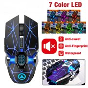 Wireless Gaming Mouse,RGB Multi-Colour Rechargeable Silent Mice Computer Accessories ,For Home Office Games(Black)