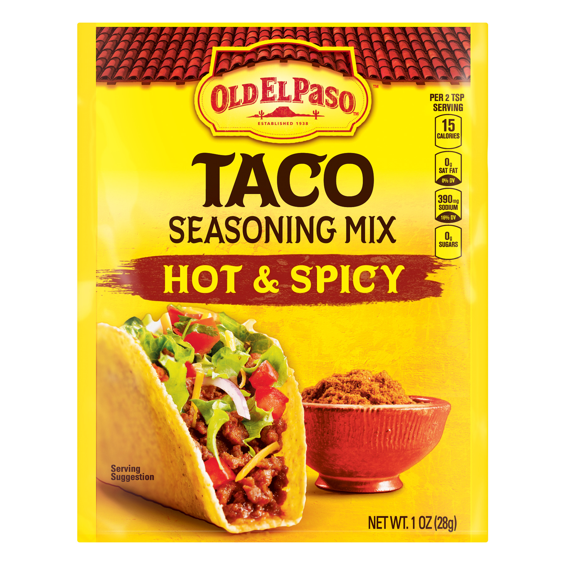 4 Pack Old El Paso Hot And Spicy Taco Seasoning Mix 1 Oz Walmart Com Walmart Com
