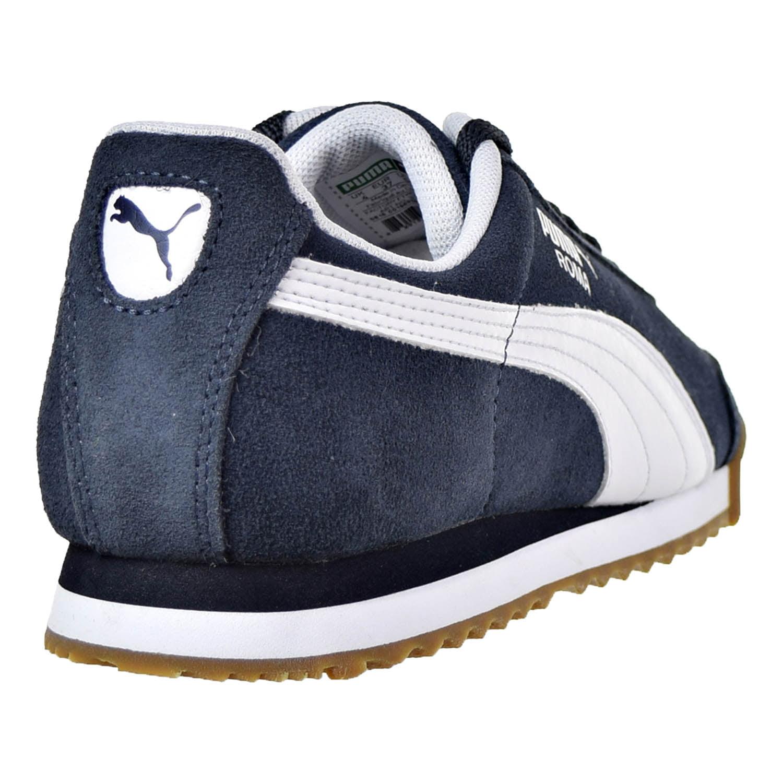 PUMA - Puma Roma Suede Jr Big Kid s Shoes New Navy White 363003-01 -  Walmart.com fd8a25143