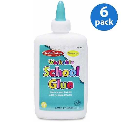 (6 Pack) CLI, LEO46008, Washable School Glue, 1 Each, White