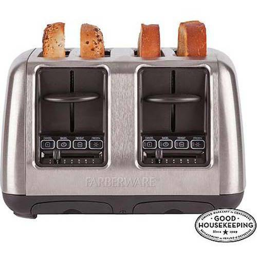 Farberware 4-Slice Toaster, Stainless Steel
