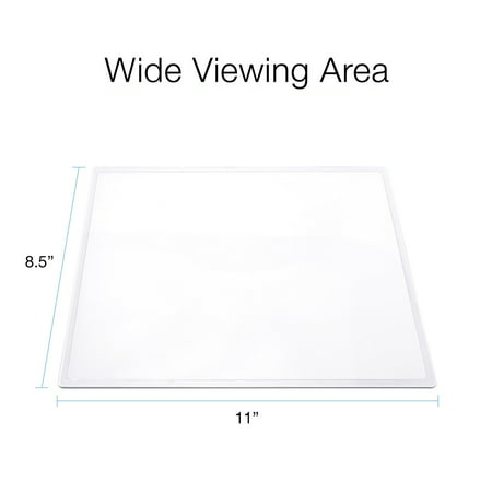 MagniPros(2PACK) Large Full Page 3X Premium Magnifying Sheet Fresnel Lens 7.5