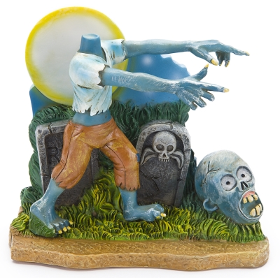 Penn-Plax ZBR10 Polyresin Headless Zombie Aquarium Ornament, Multicolor