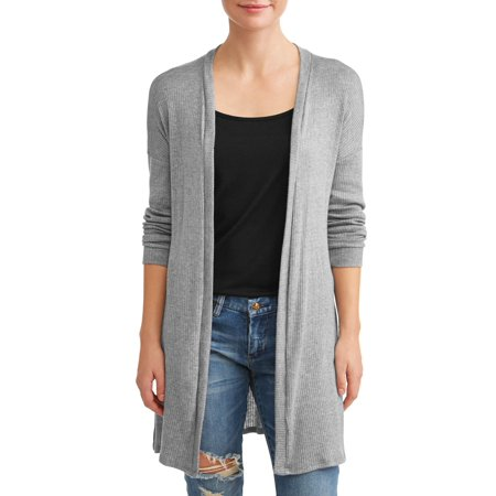 Wool Long Cardigan - Women's Long Open Cardigan