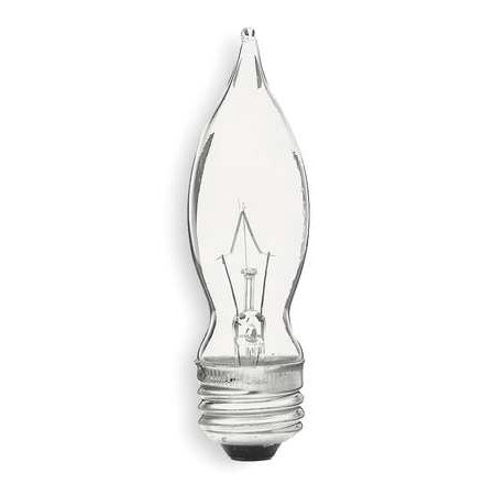 G E LIGHTING Candelabra Light Bulb, Bent Tip, Clear, 40 Watt, 4 (Bent Tip Candelabra)