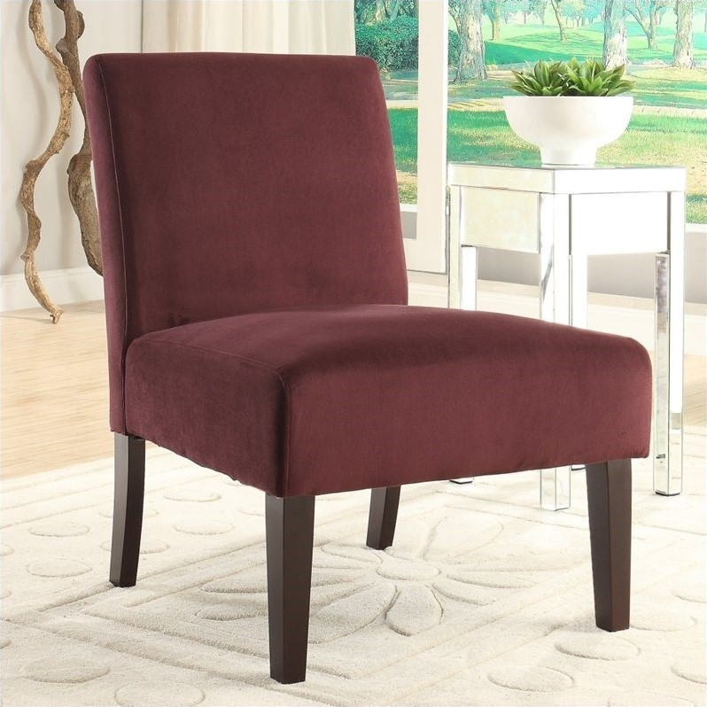 Laguna Armless Accent Chair In Velvet Walmart Com