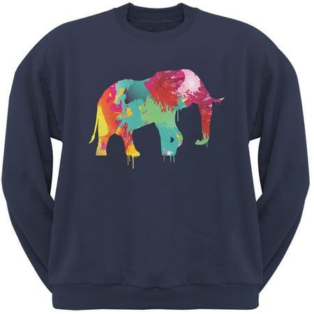 Splatter Elephant Navy Adult Sweatshirt](Elephant Suit)