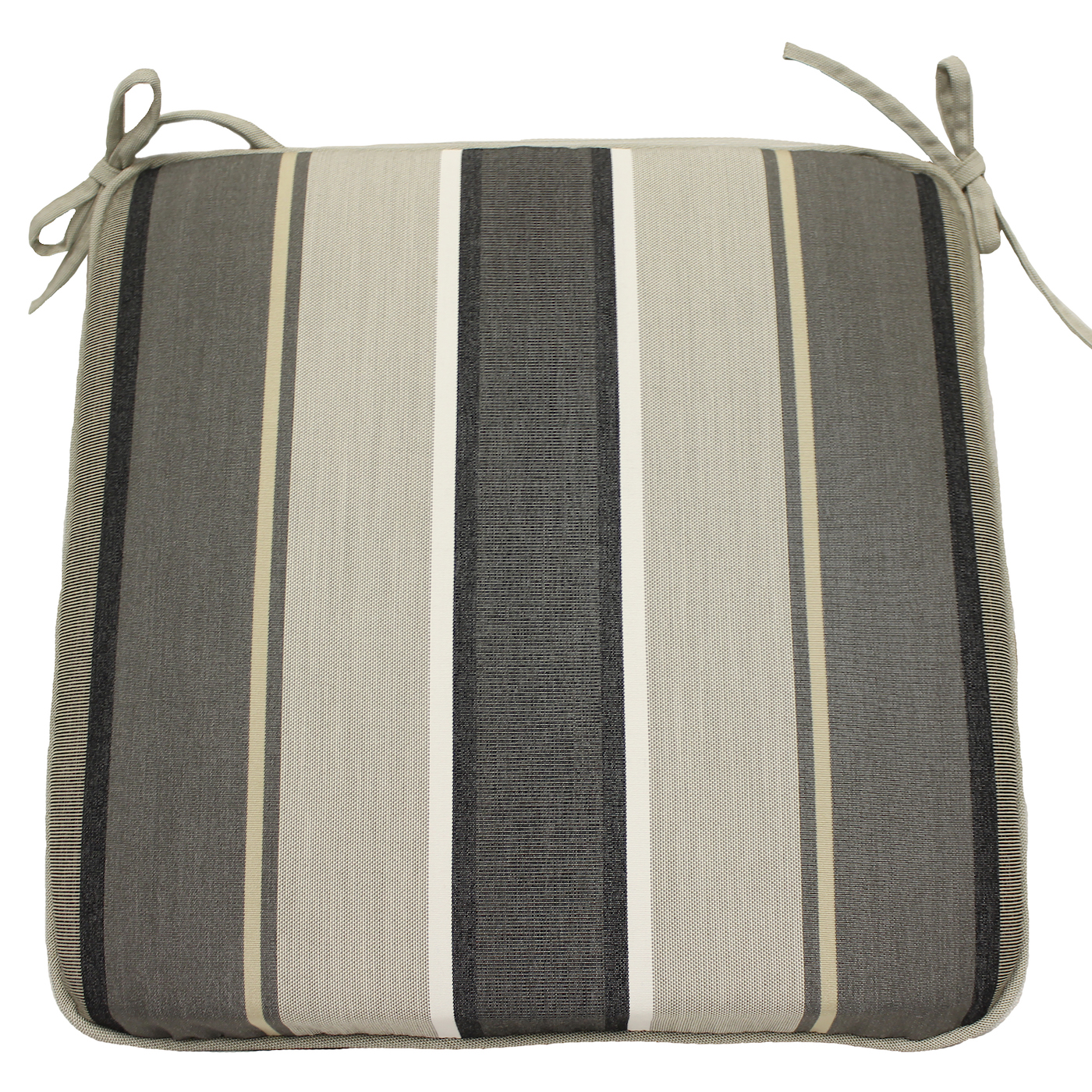 Better Homes and Gardens Linen Rev/Stripe Univer Seat Pad - Set of 2