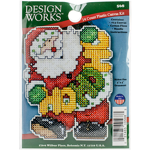 Ho Ho Santa Ornament Plastic Canvas Kit, 14-Count
