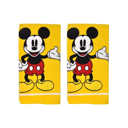 Mickey Mouse Kitchen Dish Towels 2-Piece Set Yellow (Mickey Mouse Candy Dish)