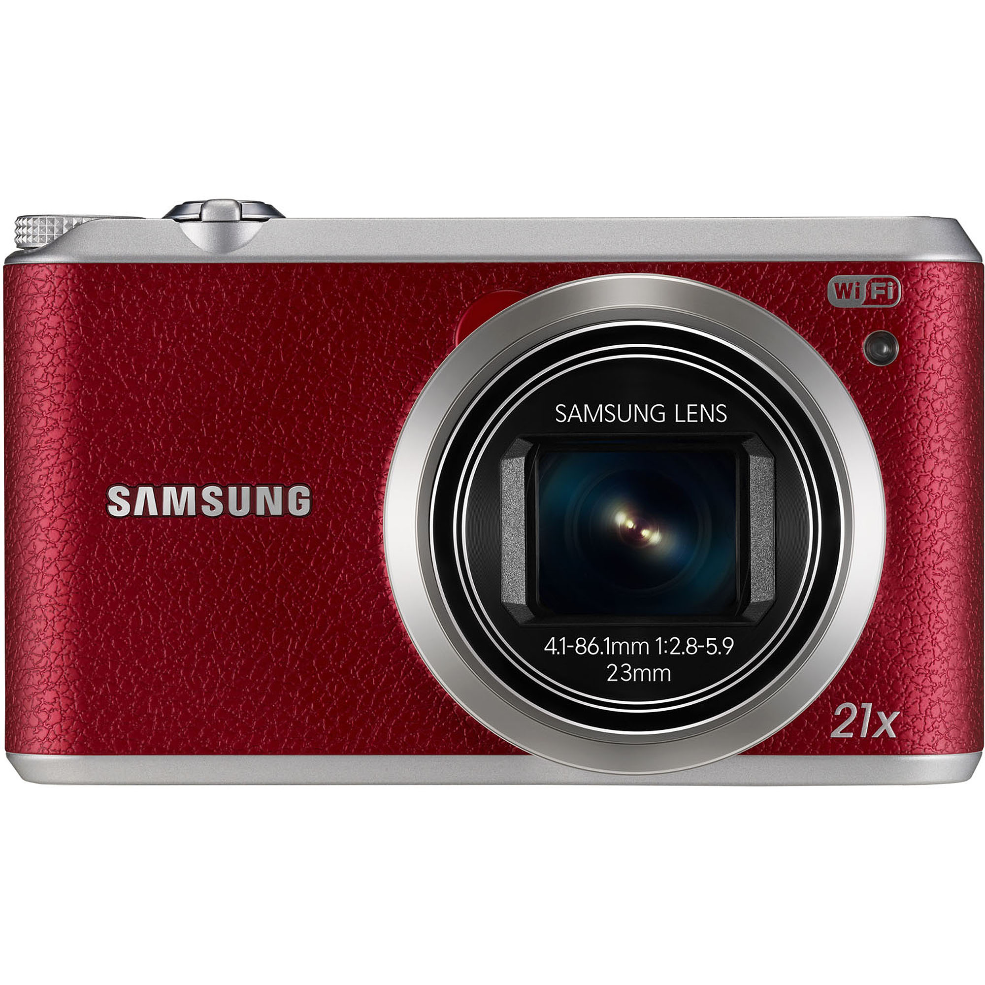 Samsung Red WB350F Digital Camera with 16.3 Megapixels and 21x Optical Zoom