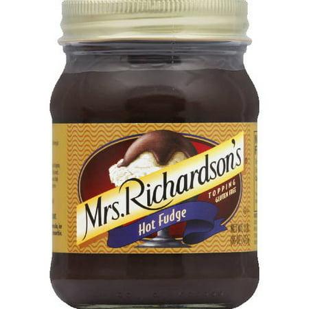 Mrs. Richardson's Hot Fudge Topping, 16 oz (Pack of 6) - Hot Fudge Raspberry Sauce