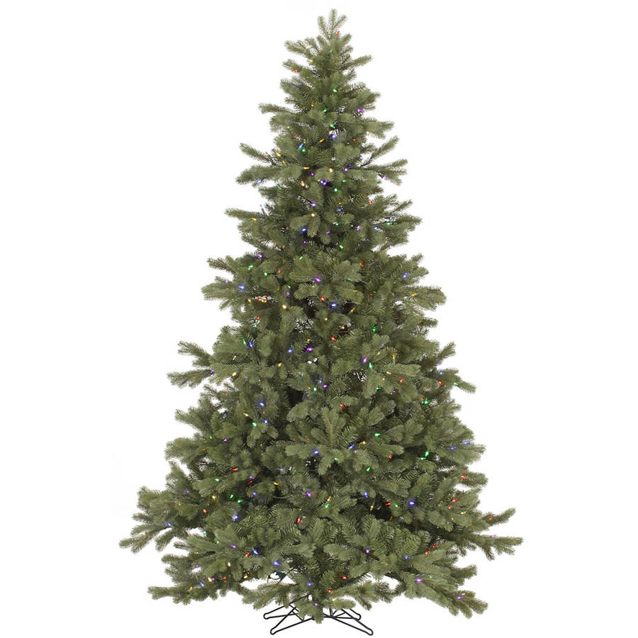 7 5 Foot Artificial Christmas Tree Multi Colored Lights: Vickerman 7.5' Frasier Fir Artificial Christmas Tree With