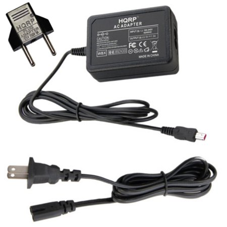 Camera Plug - HQRP AC Adapter for Samsung HMX-H320 HMX-Q10 HMX-Q10BN HMX-Q20 HMX-Q20BN HMX-M20 HMX-M20BN Camcorder Charger Power Supply Cord + Euro Plug Adapter