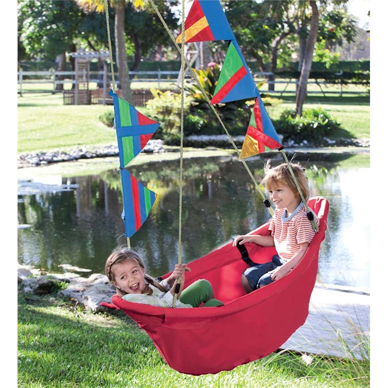 Magic Cabin Outdoor Regatta Swing / Canvas Sailboat Swing...