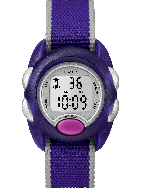 Timex Kids Time Machines Digital Purple Watch, Nylon Strap