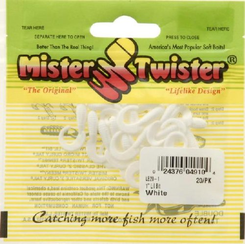 Mister Twister Lil' Bait, White, 1-Inch Multi-Colored
