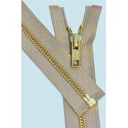 "ZipperStop Wholesale Authorized Distributor YKK® 27"" inch Medium Weight Jacket Zipper YKK #5 Brass ~ Separating ~ 573 Beige (1 Zipper/pack)"