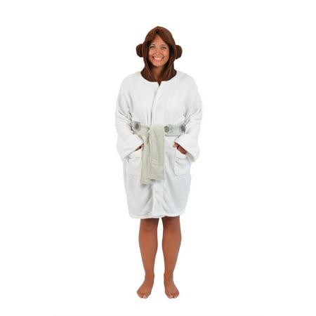 Star Wars Princess Leia Womens Fleece Bathrobe & Swim Suit Cover Up