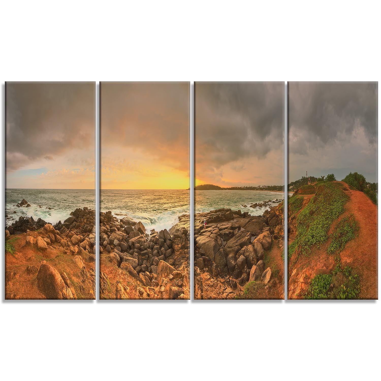 Sunrise at Romantic Beach at Sri Lanka - Landscape Artwork Canvas - image 3 of 3