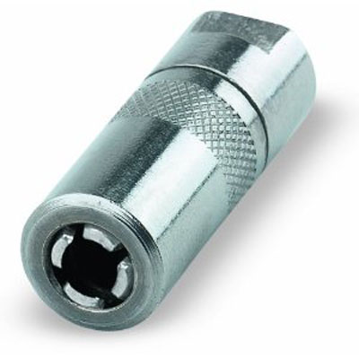 Pack of 10 Lumax LX-3505-10 Gold//Silver Drive Type Straight 0.50 Long Grease Fitting for 3//16 Diameter Hole,