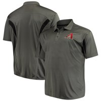 Arizona Diamondbacks Majestic Contract Polo - Charcoal/Black
