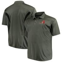 Arizona Diamondbacks Majestic Contract Polo - Charcoal/Black
