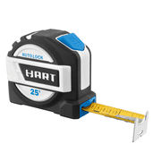 HART 25-Foot Autolock Tape Measure, Fraction Markings