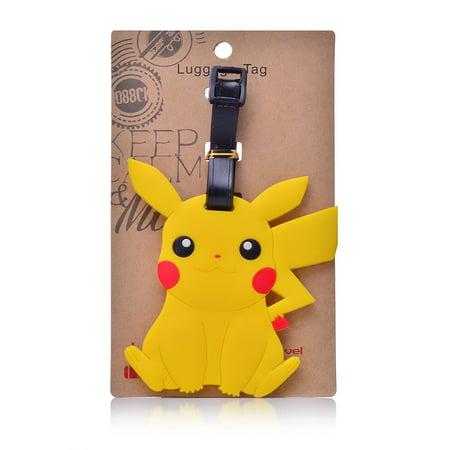 PALLION Pokemon Go Pikachu Designed PVC Embossed Luggage Id Bag Baggage Name Travel Tag
