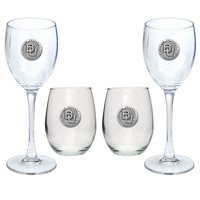 Baylor University Bears Goblet Set Stemmed and Stemless Wine Set
