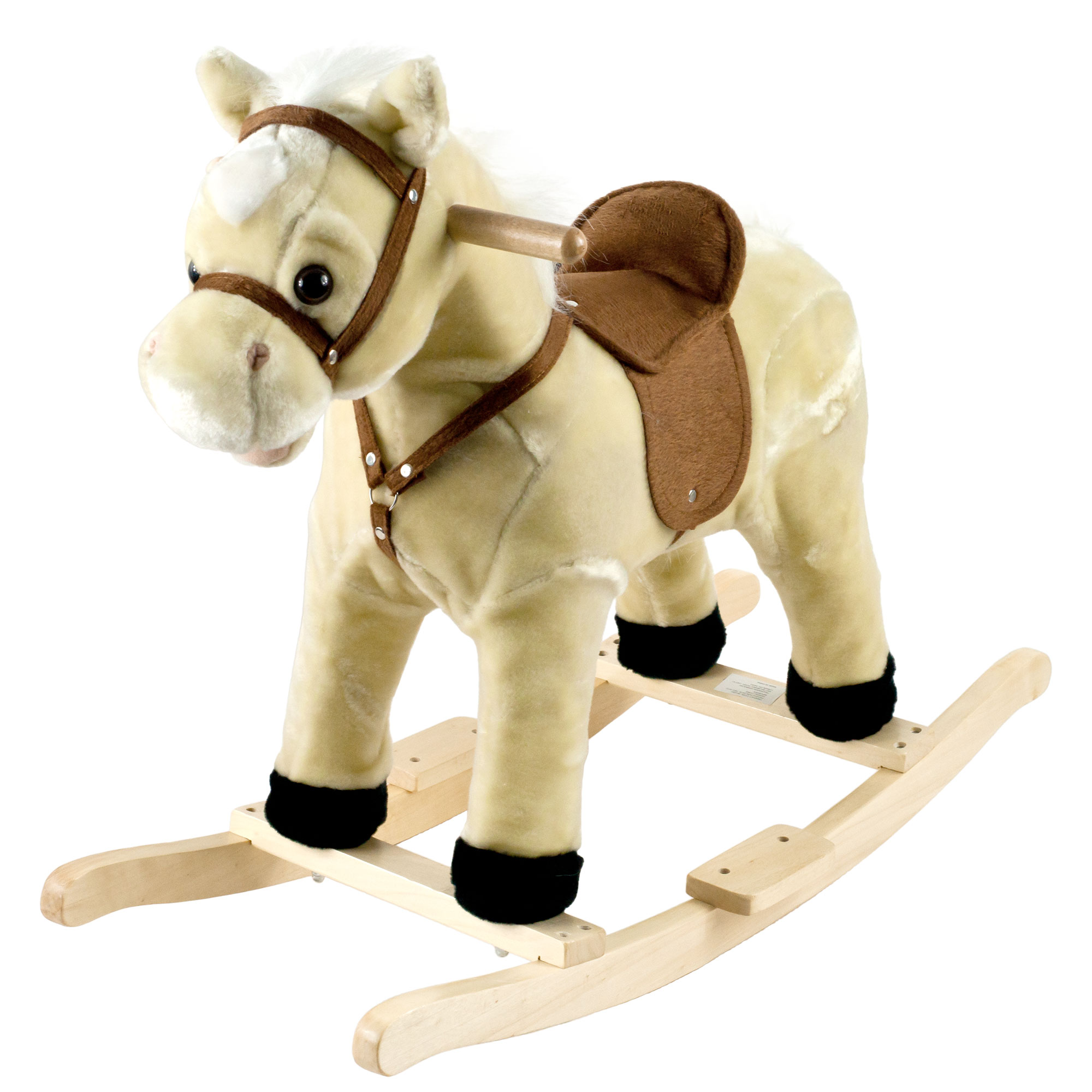 Lil Henry Rocking Horse, Brown Ride On Rocking Animal Toy by Happy Trails