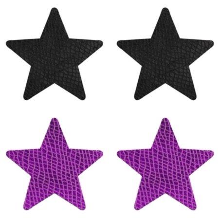 Purple/Black Snake Charmer Star Pasties Baci Lingerie PK006S Purple/Black Purple/Black Snake Charmer Star Pasties Baci Lingerie PK006S Purple/Black