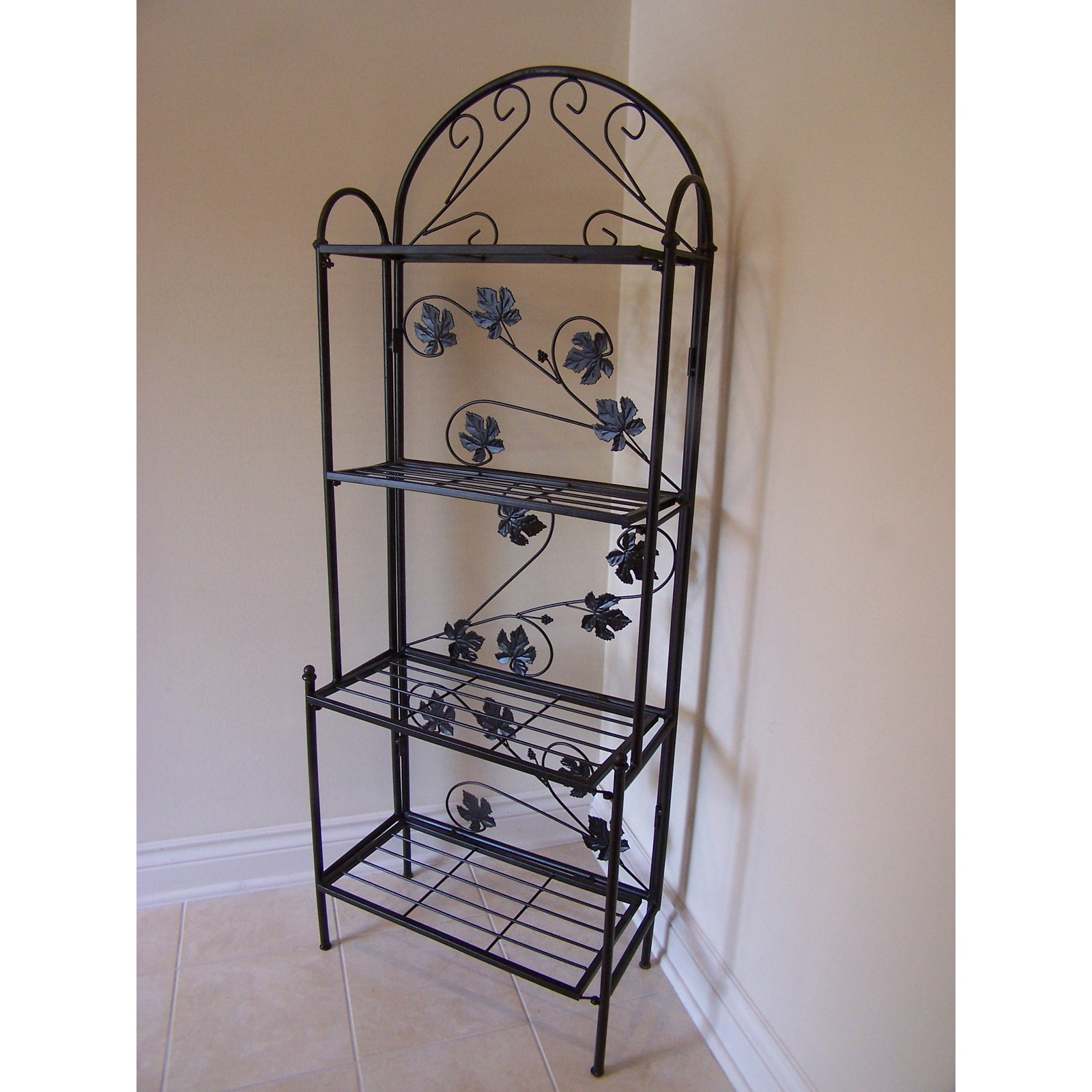 Oakland Living Sun Wave indoor / Outdoor Baker Rack - Black