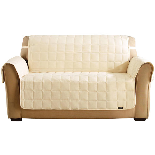Sure Fit Quilted Soft Suede Waterproof Loveseat Throw