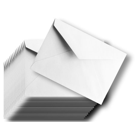 Baronial 50 Boxed A7 (5-1/4 x 7-1/4) Lee size 70lb Bright White Envelopes Pointed Flap for 5 x 7 Greeting Cards, Invitations, Weddings Birth Showers from The Envelope Gallery