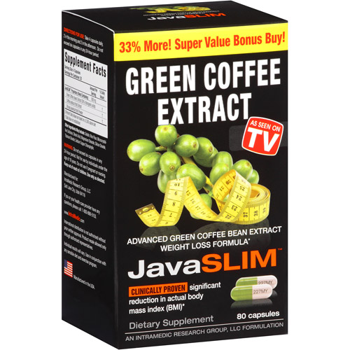 JavaSLIM Green Coffee Extract Capsules, 80 count