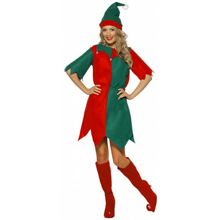 Elf Dress Adult Costume - Plus Size 1X](Elf Costume Adults Homemade)