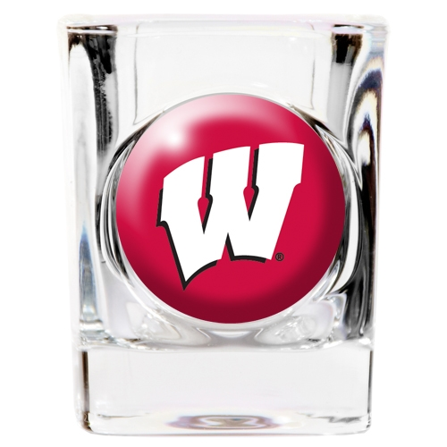 Wisconsin Badgers Official NCAA Square Shot Glass Great American Products 766646