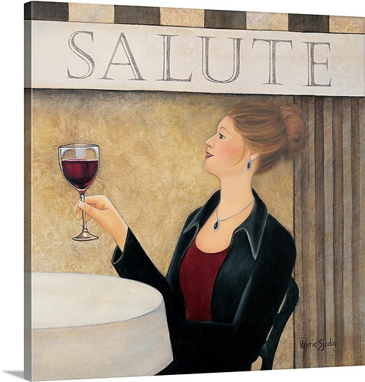 Great BIG Canvas   Sjodin Valerie Premium Thick-Wrap Canvas entitled Salute II