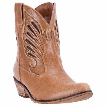 "Dingo Ladies 7 ""Tan Upper Layer Zipper J Toe Cowboy Boot, DI 727 by Dingo"