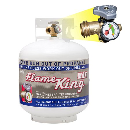 20 lb. Propane Cylinder with Type 1 Overfill Protection Device Valve and Built-In Gauge (Ships