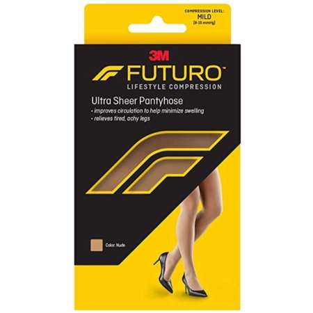 FUTURO Energizing Ultra Sheer Pantyhose For Women French Cut Mild Medium Nude, 1 Pair