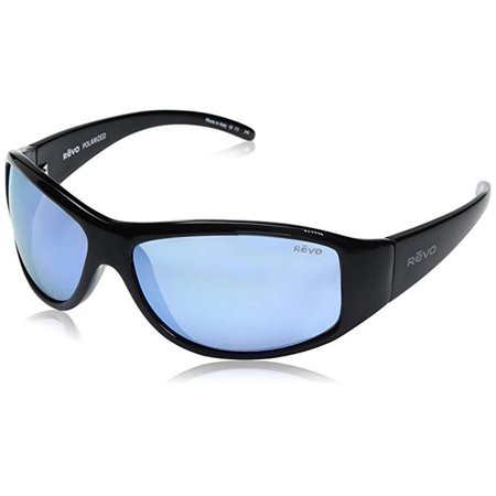 Revo Eyewear Sunglasses Tander Shiny Black with Polarized Blue Water (Revo Polarized)