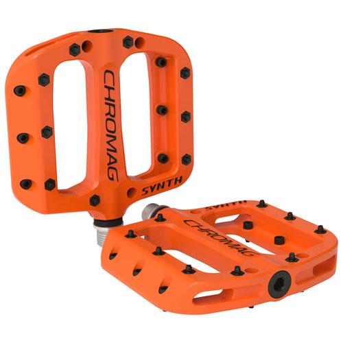 "Chromag Synth Composite Platform Pedals 9/16"" Orange"